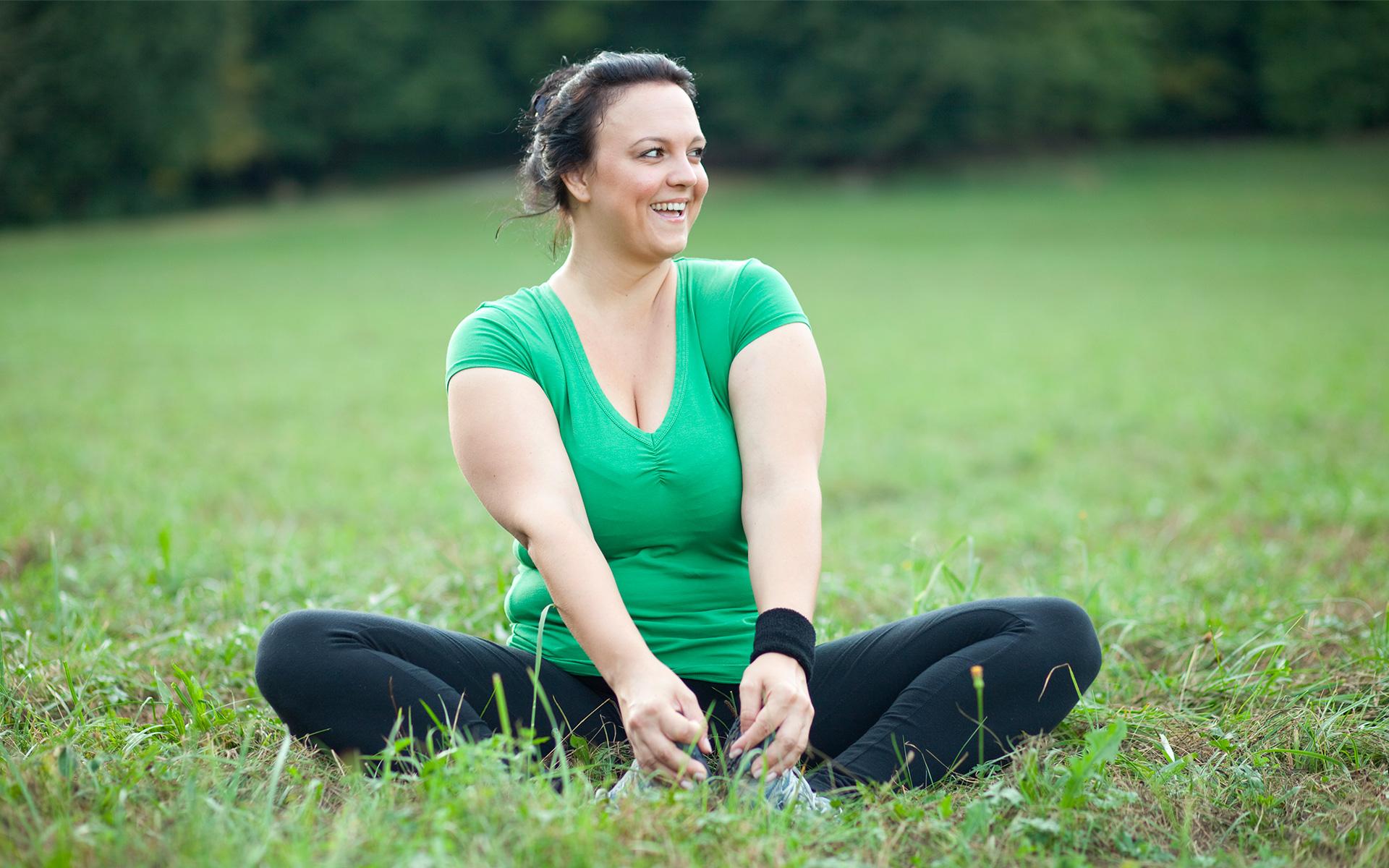 Mindfulness - a woman enjoying the outdoors